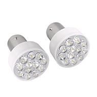 2 x 1157 1076 12 LED Turn Signal Stop Light Bulb Lamp 12V