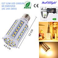 YouOKLight® 1PCS E27 12W 1000lm CRI>80 3000K 60*SMD5050 LED Light Superior quality Corn Bulb (AC200-265V)