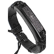 Unisex WWJD? Fabric Leather Bracelet(Random Color)