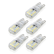 4W G9 LED Bi-pin Lights T 14 SMD 2835 300-360 lm Warm White / Cool White Dimmable / Decorative AC 220-240 V 5 pcs
