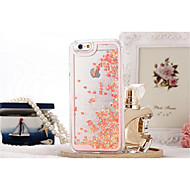 iphone 7 mais caso o amor romântico brilho líquido estojo rígido transparente para iphone 5 / 5s casos