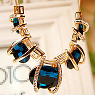 MISSING U Crystal / Alloy / Rhinestone Necklace Strands Necklaces Party / Daily 1pc