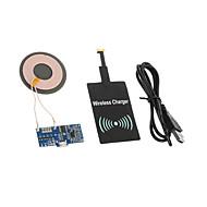 Ασύρματος Φορτιστής EU βύσμα / Βύσμα Ηνωμένου Βασιλείου / Βύσμα ΗΠΑ / AU βύσμα 1 θύρα USB με καλώδιο για κινητό(5V , 1A)