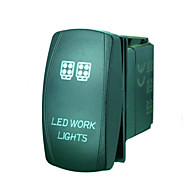 Iztoss 5Pin LASER led work light Rocker Switch ON-OFF LED Light 20A 12V Blue with wires to install