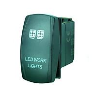 iztoss 5 핀 레이저는 온 - 오프 작업 조명 로커 스위치가 설치 전선 광 20A의 12V 블루를 주도