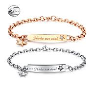 Alla hjärtans dag gåvor personliga smycken älskare titan stål guld / silver armband (ett par)