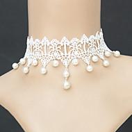 Női Rövid nyakláncok Nyaklánc medálok Gótikus Ékszerek Biserna ogrlica Gyöngy Csipke Divat Ékszerek Kompatibilitás Esküvő Parti Napi