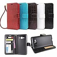 Voor Samsung Galaxy hoesje Kaarthouder / Portemonnee / met standaard / Flip / Reliëfopdruk hoesje Volledige behuizing hoesjeGeometrisch