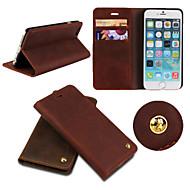 icovercase®retro véritable cuir de vachette flip luxe couvercle carte de portefeuille cas de fente Stand pour iPhone 6 (couleurs