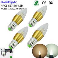 Ampoules Bougie Décorative Blanc Chaud / Blanc Froid YouOKLight 4 pièces C35 E26/E27 5 W 50 SMD 3014 450 LM AC 100-240 / AC 110-130 V