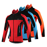 남성의 - 통기성 / 인체 해부학적 디자인 / 방풍 / 보온 / 빛반사 스트립 / 백 포켓 - 긴 소매 - 레저 스포츠 / 사이클링 / 크로스-컨츄리 / 오토바이 / 달리기 - 자켓 봄 / 가을 / 겨울 스트래치M / L / XL / XXL /