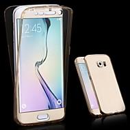 Na Samsung Galaxy Etui Przezroczyste Kılıf Futerał Kılıf Jeden kolor TPU Samsung S6 edge plus / S6 edge / S6
