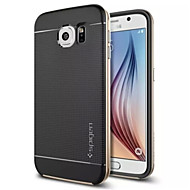 Special Design Silicone Back Cover Metal for Samsung Galaxy S6(Assorted Colors)
