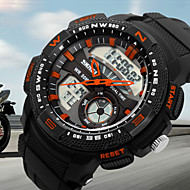 SKMEI® Men's Dual Time Analog-Digital Sports Watch Racing Design Wristwatch Cool Watch Unique Watch