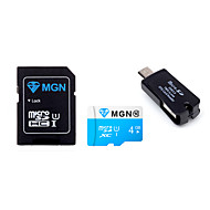 originală MGN 4GB microSDHC TF card de memorie flash cu adaptor SD SDHC și USB& OTG doi într-un cititor de carduri