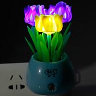 energibesparende LED-farge rose lys-opererte modus nattlys lampe