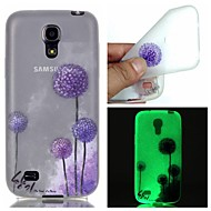 For Samsung Galaxy Case Glow in the Dark Case Back Cover Case Dandelion TPU Samsung S6 edge plus / S6 / S5 / S4 Mini / S3