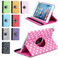 lyx print polka dot 360 rotation pu läderfodral för Apple iPad mini 3/2/1 tablett Smart Cover flip fall med stativ