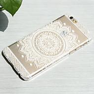 """weiße Sonnenblumenstil transparent pc harte rückseitige Abdeckung für iphone 6 / 6S 4.7 """""""