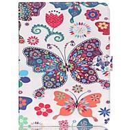 Pro Samsung Galaxy pouzdro Peněženka / Pouzdro na karty / se stojánkem / Flip / Vzor Carcasă Oboustranný Carcasă Motýl PU kůže SamsungTab