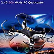 668-a7c 4ch 6 eksenli 2.4g siyah / beyaz uçağı hd kamera uzaktan kumandalı oyuncaklar 2.0MP