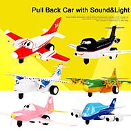 l'aeroporto diario giocattolo del fumetto tirare indietro auto con il suono e la luce per giocattoli per bambini inc. batteria (con