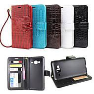 Mert Samsung Galaxy tok Kártyatartó / Pénztárca / Állvánnyal / Flip / Dombornyomott Case Teljes védelem Case Egyszínű Műbőr SamsungJ7