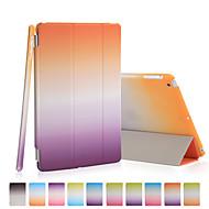 jó minőségű PU bőr szivárvány gradiens oldaltáska iPad mini 3/2/1