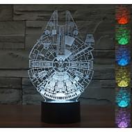 אווירת 3D חזותית בז המילניום מצב רוח המודל הובילה אור קישוט USB מנורת שולחן מתנה צבעונית הלילה