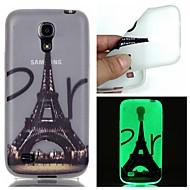 Varten Samsung Galaxy kotelo Hehkuu pimeässä Etui Takakuori Etui Eiffelin torni TPU Samsung S6 edge plus / S6 / S5 / S4 Mini / S3