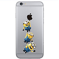 Yellow People Pattern PC Hard Phone Case for iPhone 6/6S