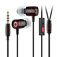 ggmm beija-flor de metal leve de cristal habitação som claro fone de ouvido com microfone (preto)