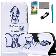 Για Θήκη καρτών / Πορτοφόλι / με βάση στήριξης / Ανοιγόμενη / Με σχέδια tok Πλήρης κάλυψη tok Ελέφαντας Σκληρή Συνθετικό δέρμα SamsungS6