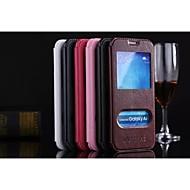Para Samsung Galaxy Capinhas Com Suporte / Flip Capinha Corpo Inteiro Capinha Cor Única Couro PU Samsung A8
