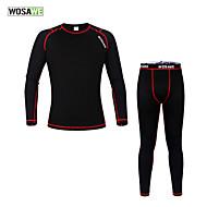 Conjuntos de Roupas/Ternos / camadas de base / Suit Compression / Meia-calça ( Preto ) - deAcampar e Caminhar / Pesca / Fitness /