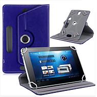 """Custodia in pelle per tablet copertura di cuoio di rotazione di 360 gradi riposare per tablet android universale 7 """"pollici 3-berna"""