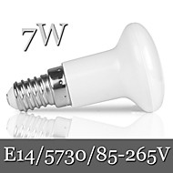 1pcs Ding Yao E14 7W 21LED SMD 5730 600LM Warm White / Cool White R50 Dimmable / Decorative Globe Bulbs AC 85-265V