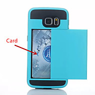 Speciální konstrukce plastový kryt telefonu s pouzdrem karty pro Samsung Galaxy s6 / EDGE / hrany + (různé barvy)