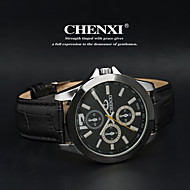 CHENXI® 男性 リストウォッチ クォーツ 日本産クォーツ レザー バンド ブラック