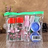 7pcs plast rejse shading makeup flaske sæt