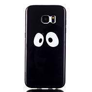 For Samsung Galaxy S7 Edge Etuier Mønster Bagcover Etui Sort og hvid TPU for Samsung S7 edge S7