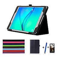 Pour Avec Support Veille/Déverrouillage Automatique Clapet Coque Coque Intégrale Coque Couleur Pleine Dur Cuir PU pour Samsung Tab A 9.7