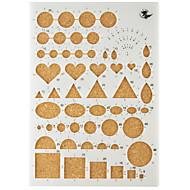 메이크업 관상 주름을 달기 종이 DIY 공예 미술 장식 22x15.5cm을위한 템플릿