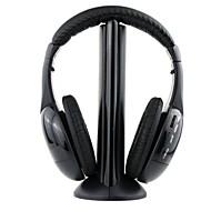 mh2001 ακουστικών 3,5 χιλιοστών πάνω από το αυτί 5 σε 1 ασύρματο μικρόφωνο με Ραδιόφωνο FM για mp3 / pc / tv