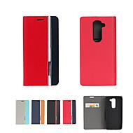 Mert LG tok Kártyatartó / Állvánnyal / Flip Case Teljes védelem Case Egyszínű Kemény Műbőr LGLG G4 / LG G3 / LG G26 / LG G2 mini / LG G3