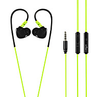 LABSIC L-S88 3.5mm Hi-Fi Stereo Sports Earphones with Microphone and Comfortable Ear-wired for PC Laptop Phone