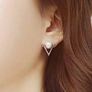 Sample Strianle Pearl Stud Earring Gold Plated for Women