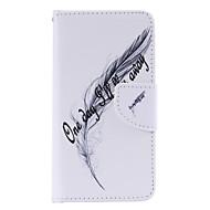 Til Samsung Galaxy etui Etuier Kortholder Med stativ Flip Mønster Magnetisk Heldækkende Etui Fjer Kunstlæder for SamsungA7(2016) A5(2016)