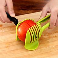 1 piezas Apple Naranja Patata Tomate Limón Cutter & Slicer For para vegetal Plástico Cocina creativa Gadget Novedades