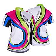 Nuckily Fahrradtrikot Damen Kurzarm Fahhrad Trikot/Radtrikot Oberteile UV-resistant Feuchtigkeitsdurchlässigkeit Eingebaute Kesseltasche